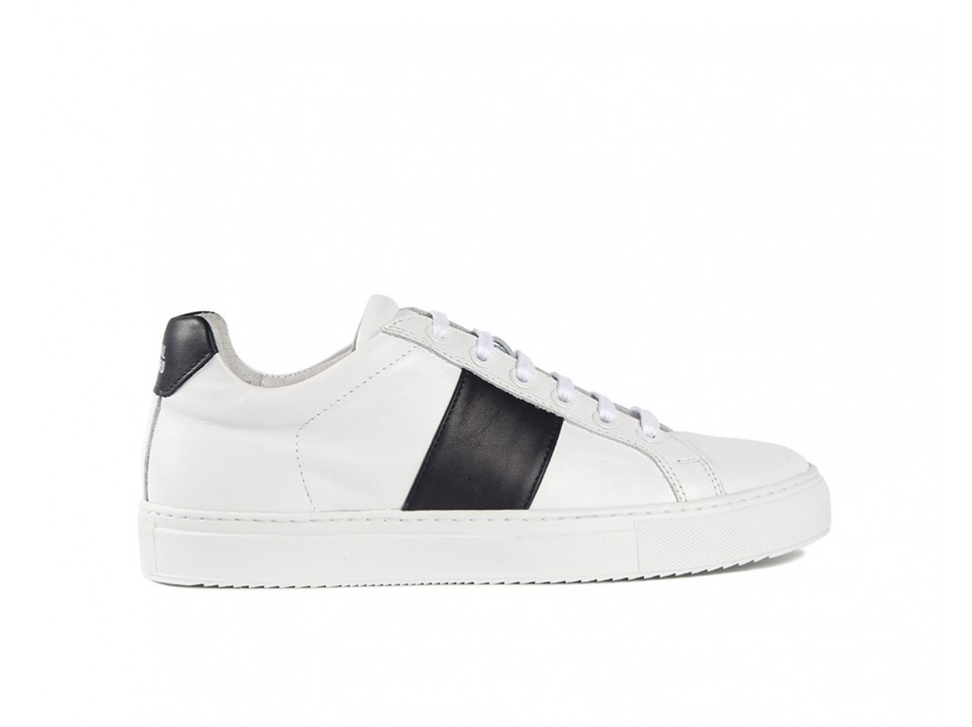 Edition 4 sneakers basses blanches bande noire
