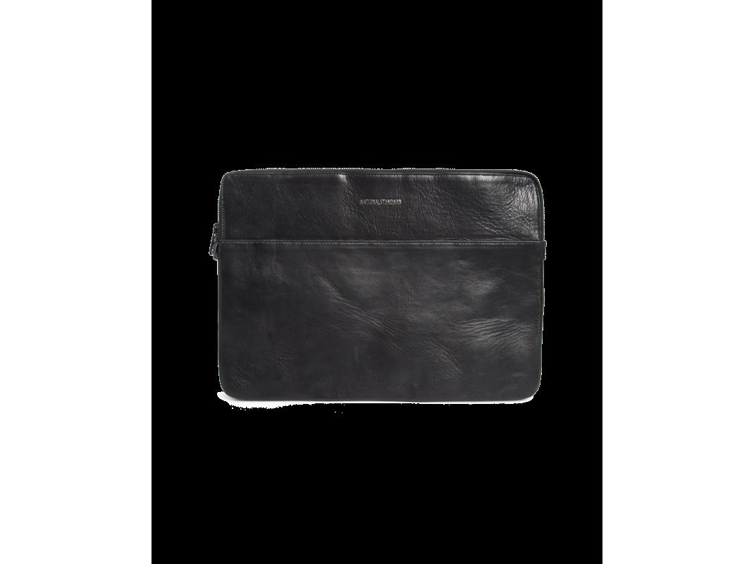 Pochette cuir noir