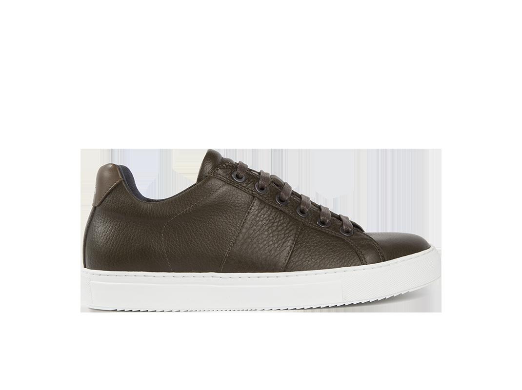 Edition 4 sneakers basses kaki semelle blanche
