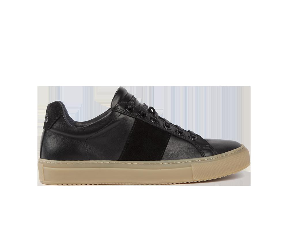 Edition 4 sneakers basses noires semelle miel
