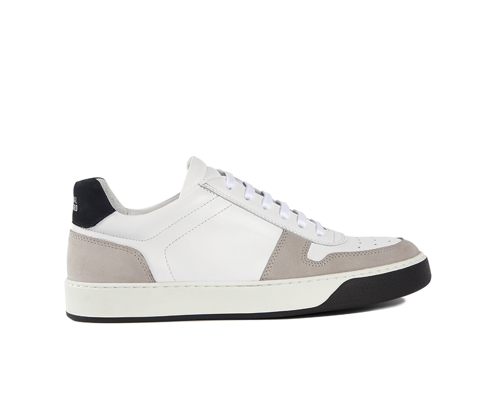 Edition 6 sneakers basses blanches-marine