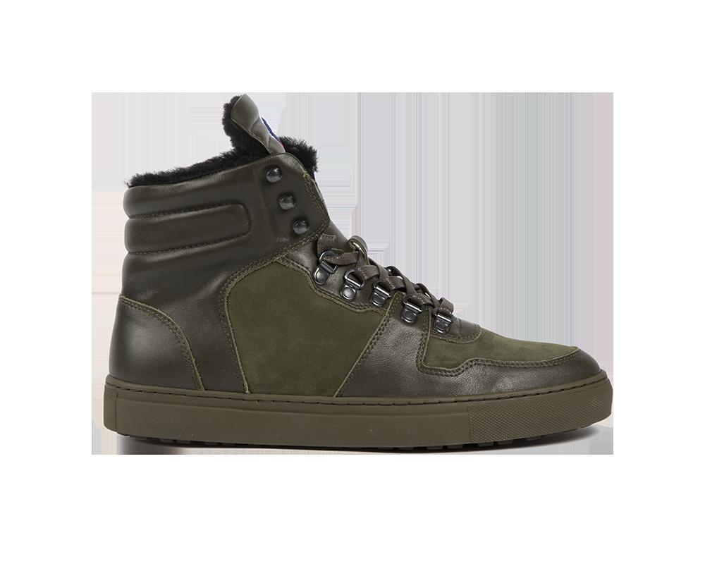 Edition 1 Fusalp sneakers montantes fourrées kaki