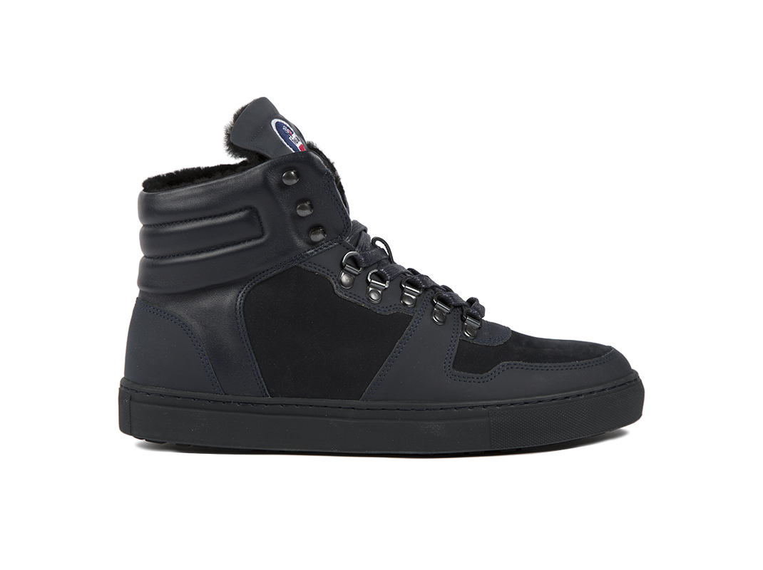Edition 1 Fusalp sneakers montantes fourrées bleu marine