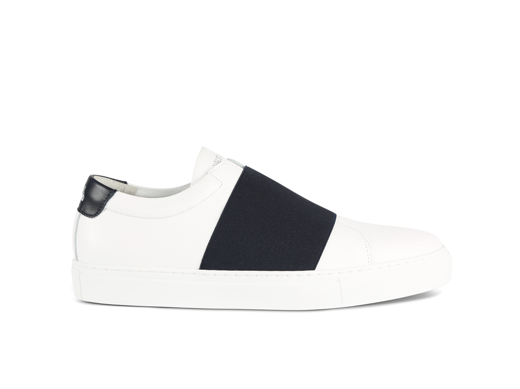 Edition 33 white and navy sneakers