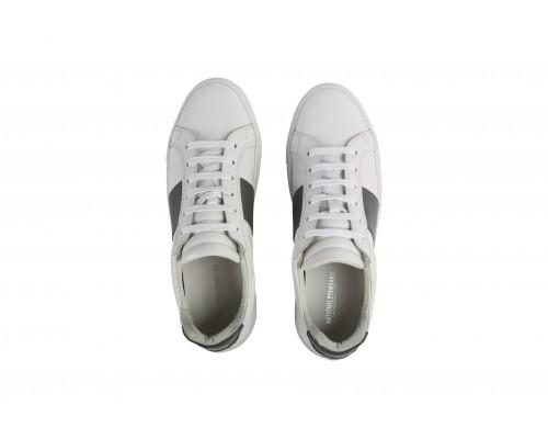 Edition 4 blanche bande gris acier