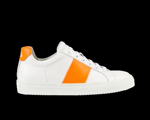 Edition 4 blanche bande orange
