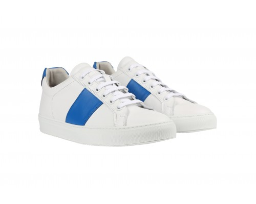 Edition 4 blanche bande bleue
