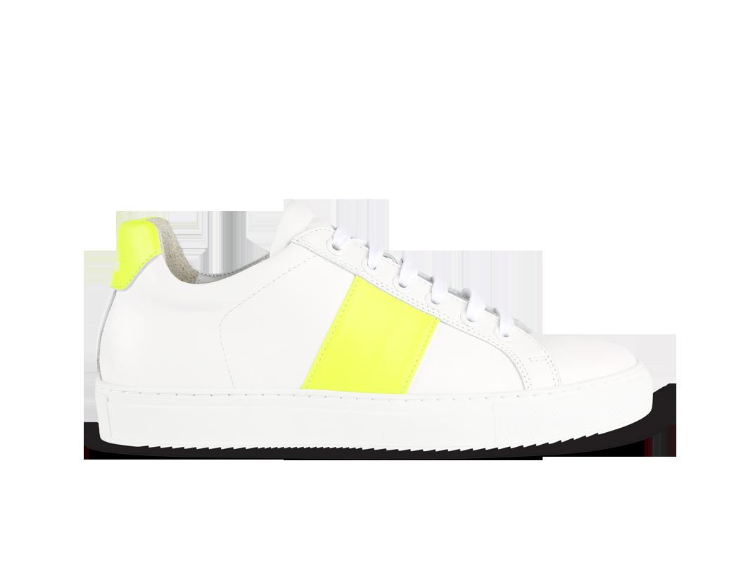 Edition 4 blanche bande jaune fluo
