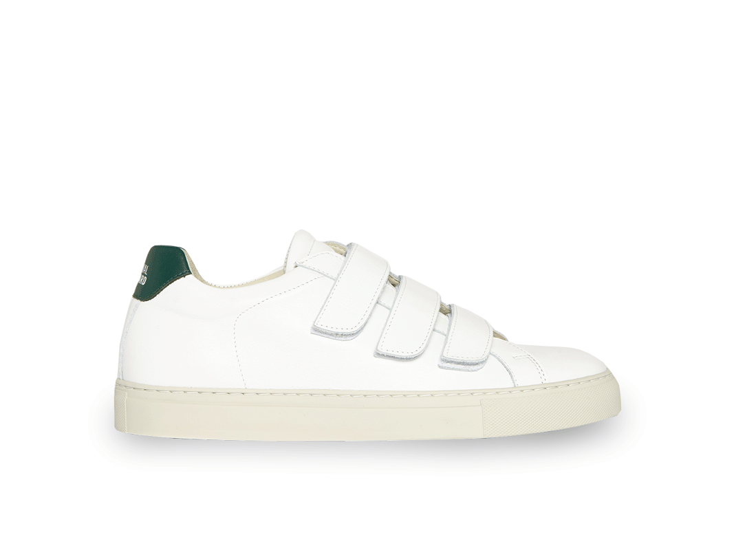 Edition 44 white and green low sneakers